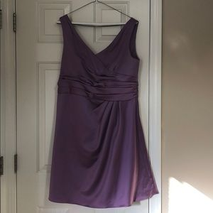 David's bridal size 14 knee length dress